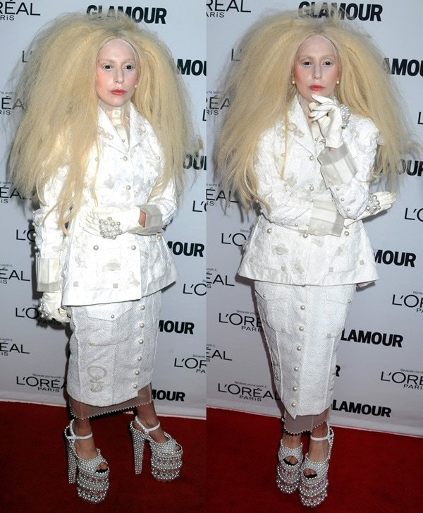 Lady Gaga at the Glamour Magazine Women Of The Year Gala in New York City on November 11, 2013