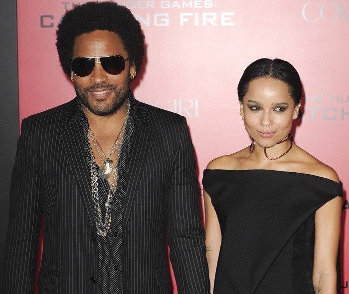 """Lenny Kravitz and Zoë Kravitz attend the Los Angeles premiere of """"The Hunger Games: Catching Fire"""""""