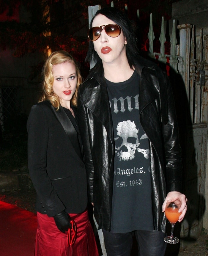 Evan Rachel Wood met Marilyn Manson at the age of 18 and they were engaged in 2010 for seven months