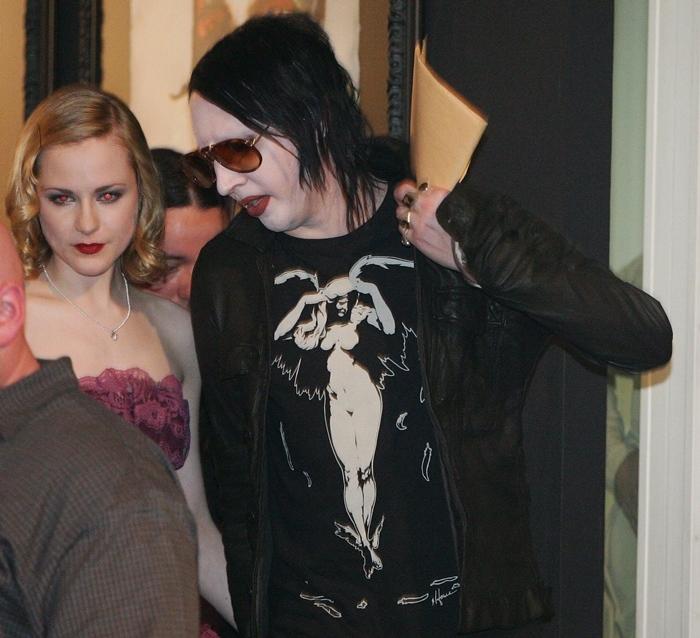 Marilyn Manson and his girlfriend Evan Rachel Wood