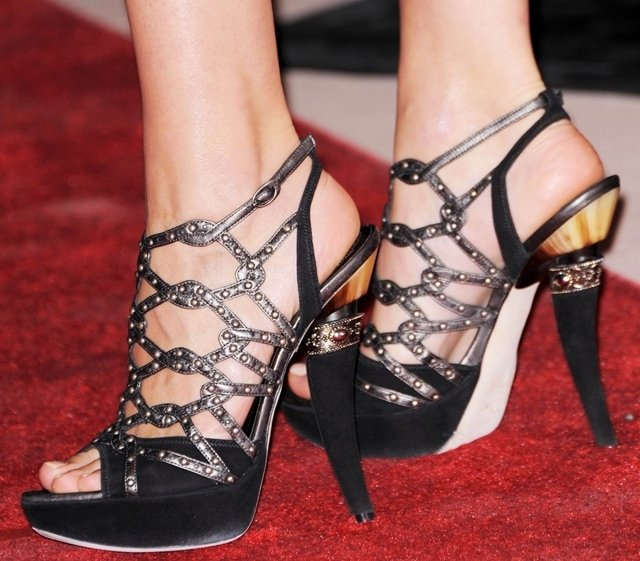 Marion Cotillard's Christian Dior gladiator sandals at the 2010 Palm Springs International Film Festival Awards Gala