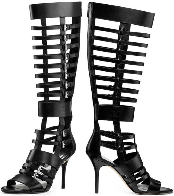 Michael by Michael Kors Black Wesley Heeled Gladiator Boot