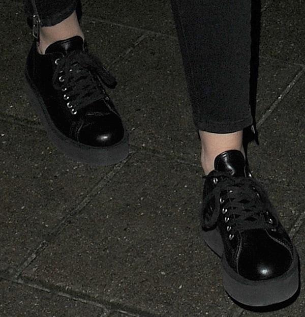 Comme des Garçons platform lace up shoes as seen on Miley Cyrus