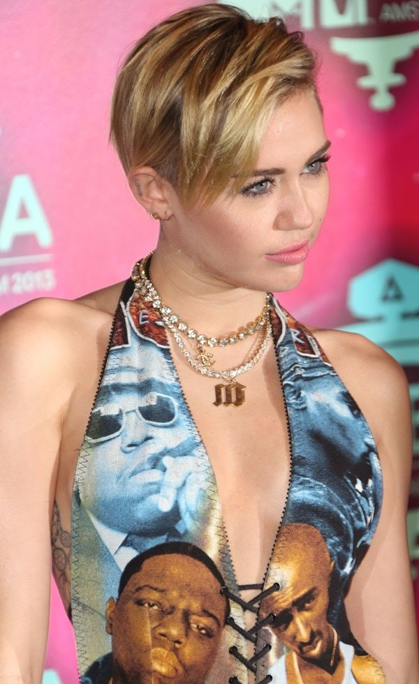 Miley Cyrus at the 20th MTV Europe Music Awards held at Ziggo Dome in Amsterdam on November 10, 2013