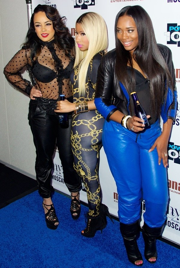 Nicki Minaj with Lore'l and Yandy Smith at Power 105.1's Powerhouse 2013 at Barclays Center in New York City on November 2, 2013