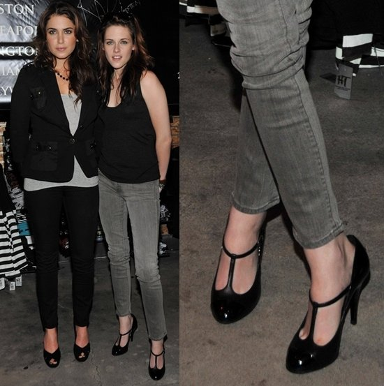 Nikki Reed and Kristen Stewart sign autographs at the Garden State Plaza Hot Topic