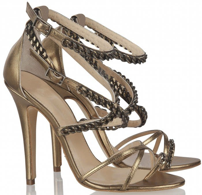 Olcay Gulsen Chain Sandals in Bronze