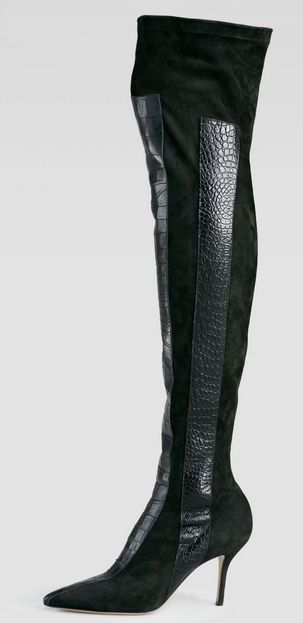 Paul Andrew Print-Panel Over-the-Knee Boots