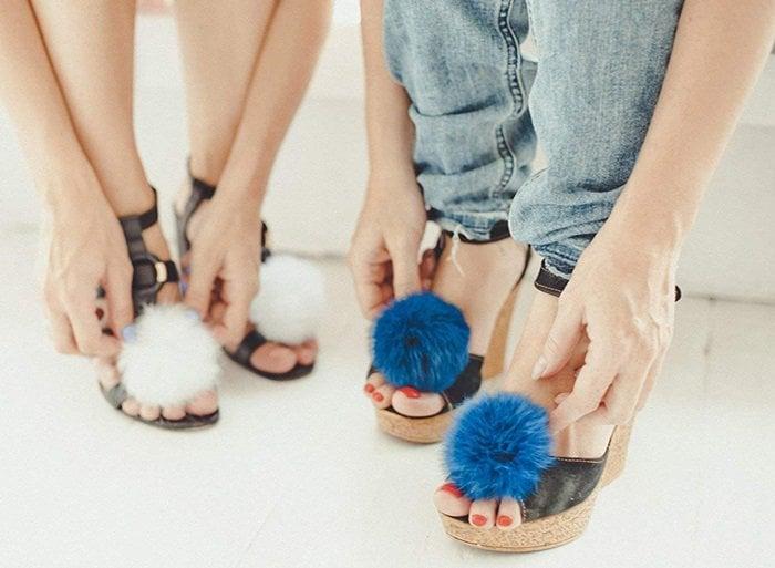 Pom Pom Shoe Clips
