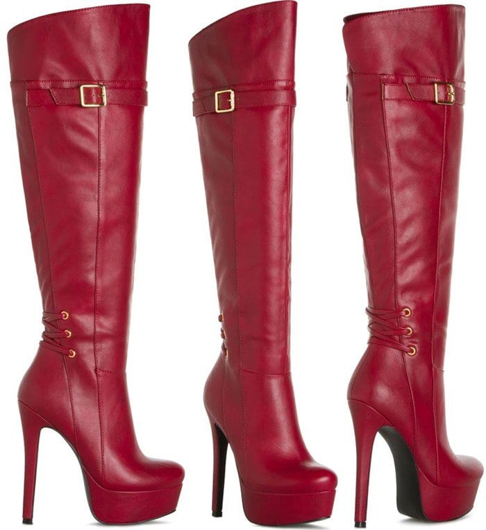 """""""Oshay"""" Red Boots"""