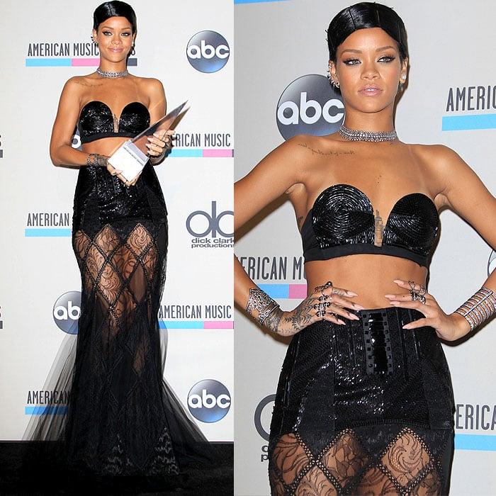 Rihanna attends the 2013 American Music Awards