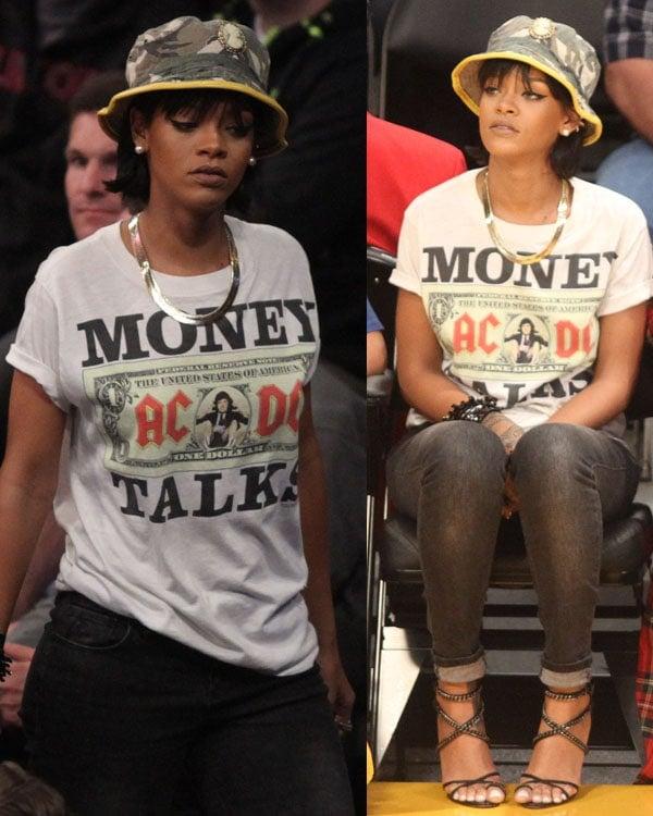 Rihanna at Lakers Game