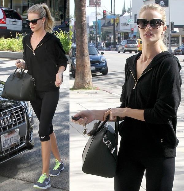 Rosie Huntington-Whiteley runs errands in Los Angeles