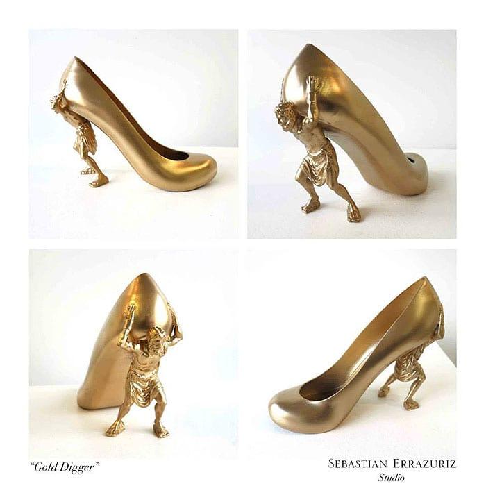Sebastian Errazuriz 12 Shoes Lovers Gold Digger