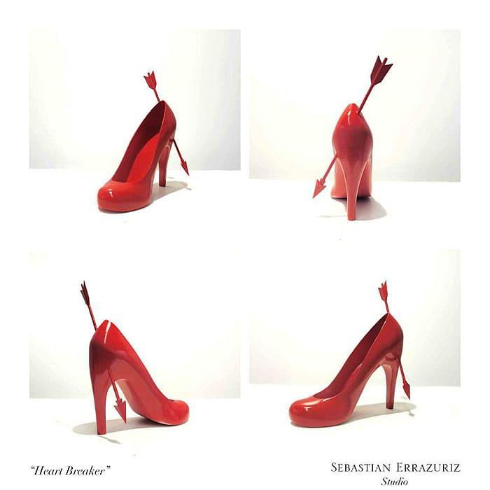 Sebastian Errazuriz 12 Shoes Lovers Heart Breaker