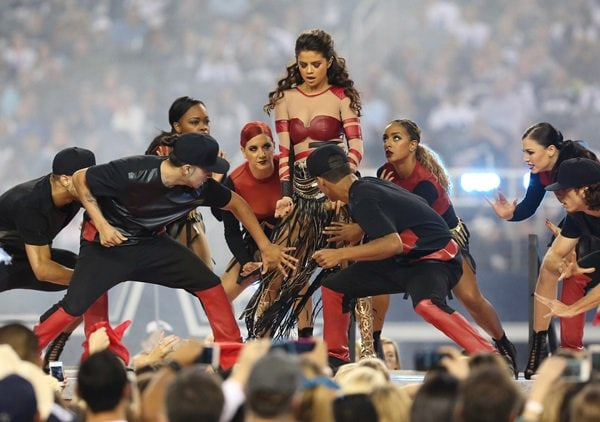 Selena Gomez Performing NFL Football Game