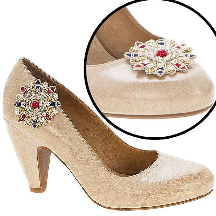 Beaded Star Shoe Clips