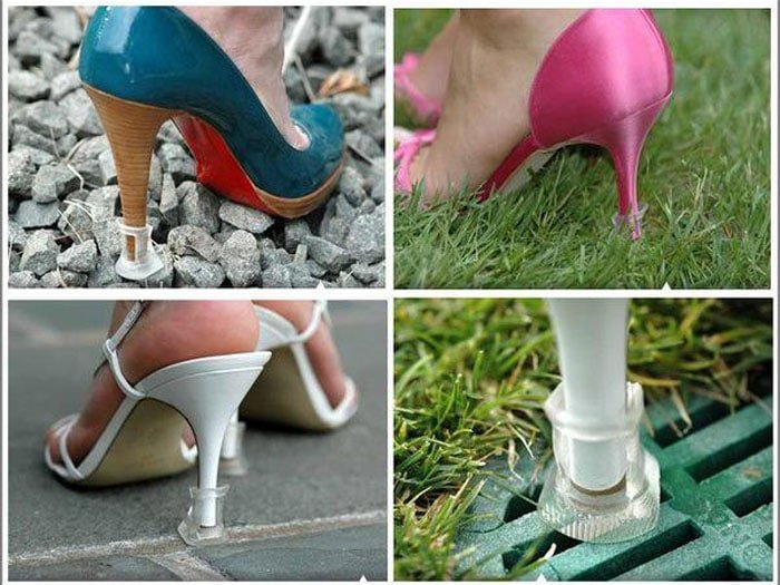 These nifty little inventions allow heels to be worn to any event as pleased