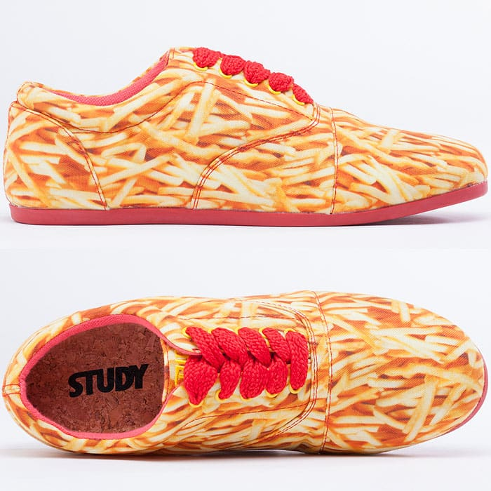 Fries Print Sneakers