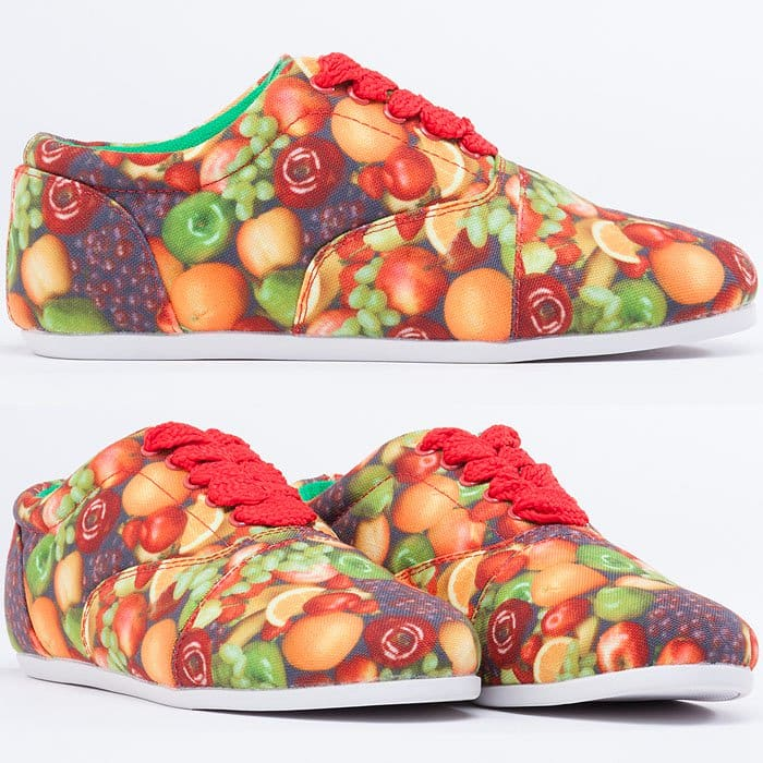 "Study ""Drop"" Fruit Print Sneakers"