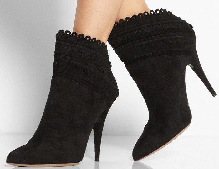 Tabitha Simmons Harmony Black Ankle Boots