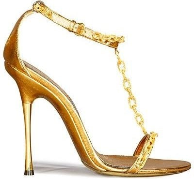 Tom Ford Gold Chain Sandal
