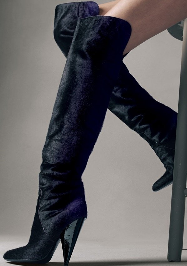 Tom Ford Ombre Calf Hair Over-the-Knee Boot