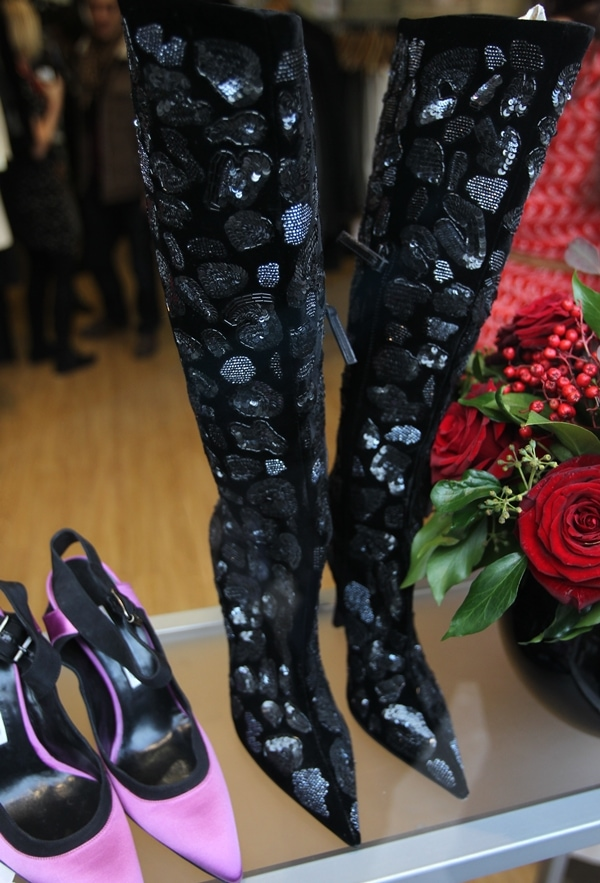 Some customers queued for more than an hour to buy Victoria Beckham's used shoes