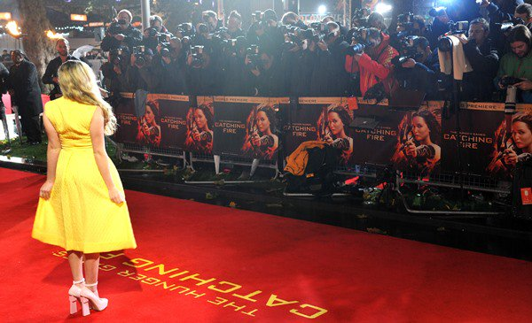 Willow Shields at the world premiere of 'The Hunger Games: Catching Fire'