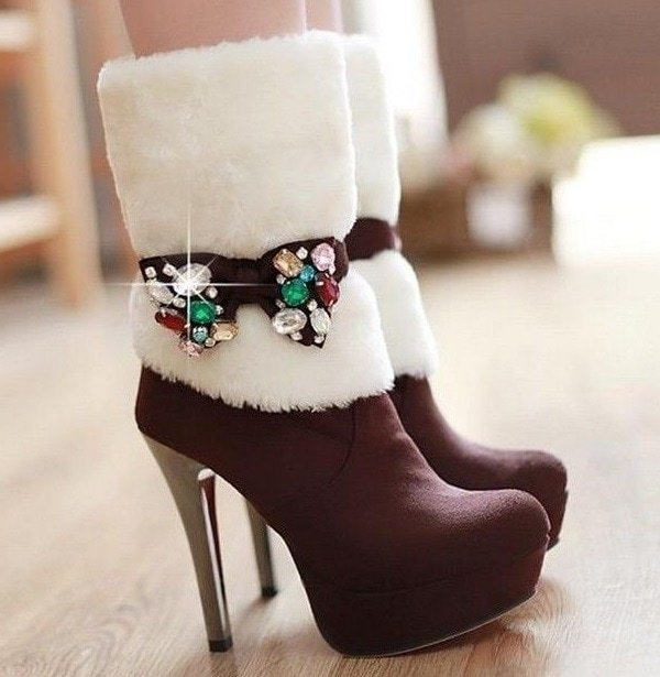 Winter Wedge Boots