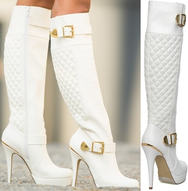 Yemay Quilted Knee-High Boots