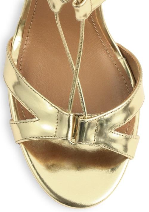 aquazzura beverly hills lace up sandals gold 2