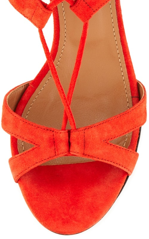 aquazzura beverly hills lace up sandals red 2