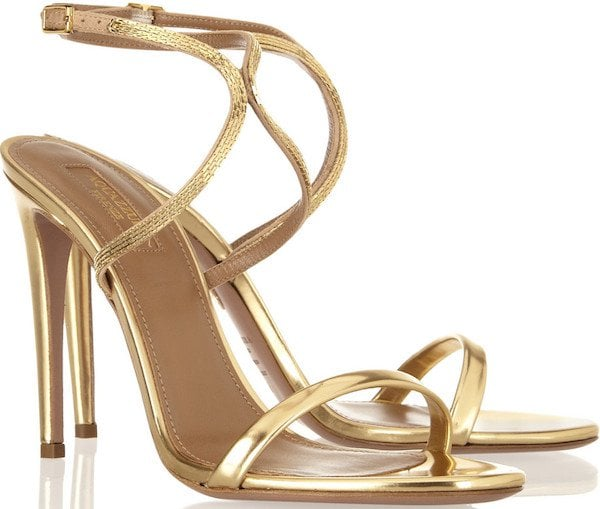 "Aquazzura ""Cannes Platino"" Sandals"