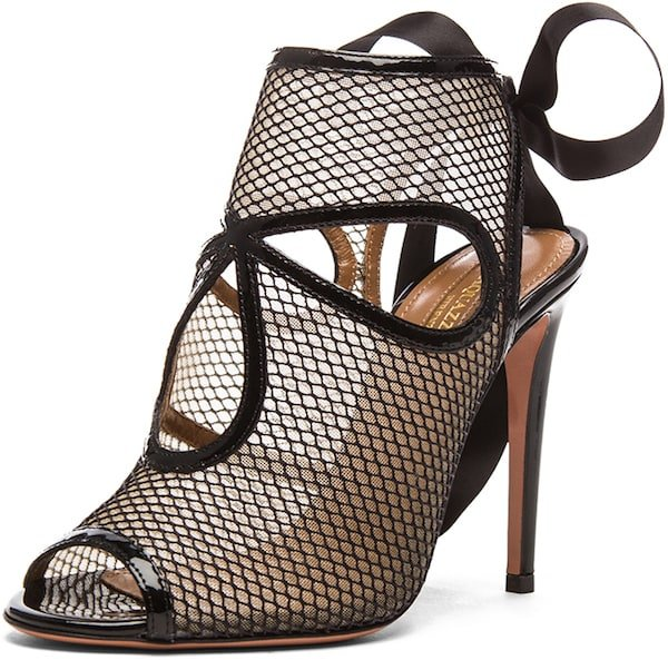 "Aquazzura ""Sexy Thing"" Mesh Cut-out Bootie"