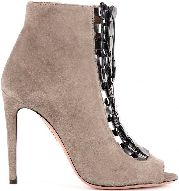 "Aquazzura ""Rock"" Suede Ankle Boot"