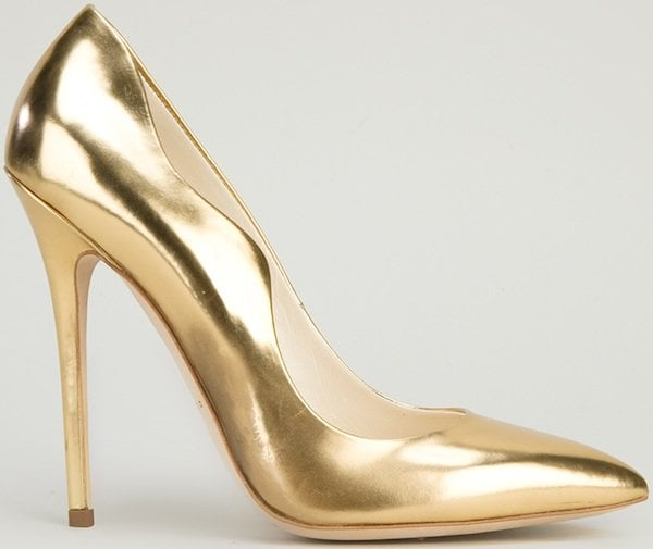 "Brian Atwood ""Besame"" Pump in Gold"