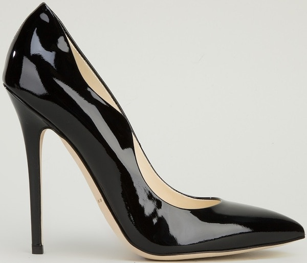 "Brian Atwood ""Besame"" Pump in Black Patent Leather"