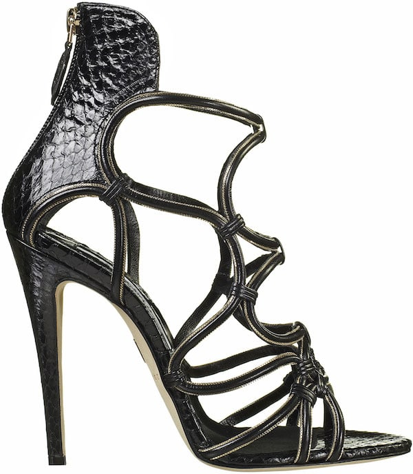 """Brian Atwood """"Cleta"""" Cage Sandal"""