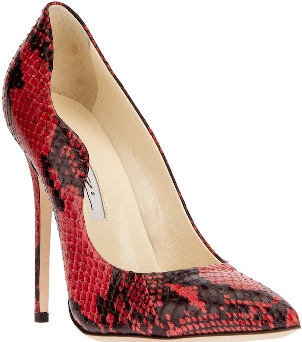"Brian Atwood ""Besame"" Python Pumps"