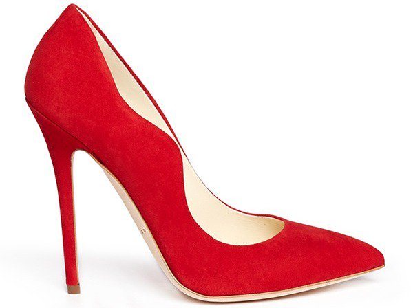 """Brian Atwood """"Besame"""" Pump in Red Suede"""