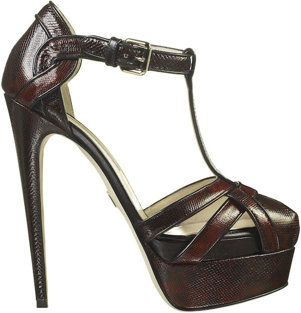 "Brian Atwood ""Siena"" Platform T-Strap Sandal"