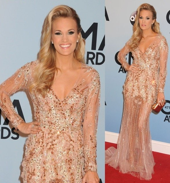 Carrie Underwood attends the 47th Annual Country Music Awards