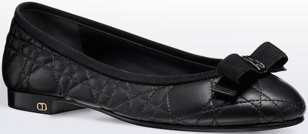 Christian Dior Ballerina Flat in Black Leather