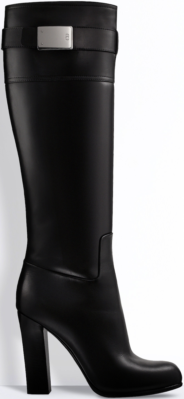 Christian Dior Black Leather Boot