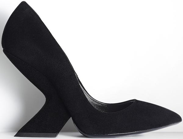 Christian Dior Black Suede and Calfskin Pump