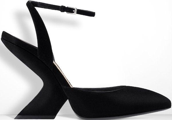 Christian Dior Black Suede Calfskin Sandal