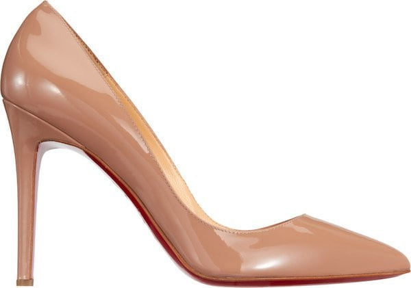 """Christian Louboutin """"Pigalle"""" Pump in Nude"""