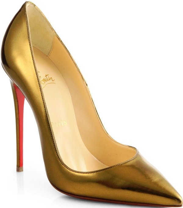 "Christian Louboutin ""So Kate"" Pump in Gold"