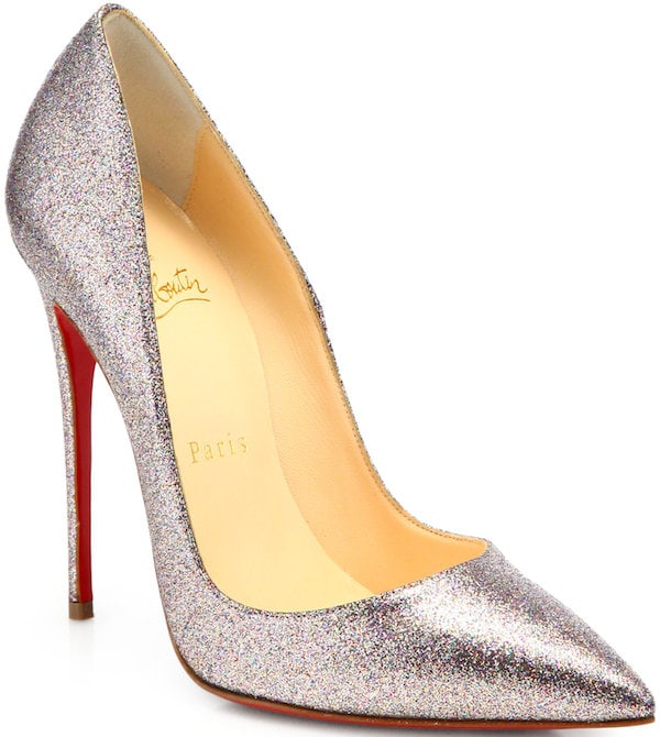 "Christian Louboutin ""So Kate"" Glitter Pump"